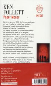 Paper money - 4ème de couverture - Format classique
