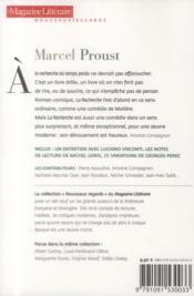 Le Magazine Litteraire ; Marcel Proust - 4ème de couverture - Format classique