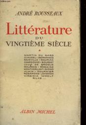 Litterature Du Vingtieme Siecle. Tome 1. - Couverture - Format classique