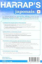 Methode de japonais - 4ème de couverture - Format classique