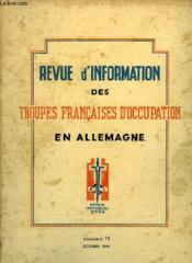 Revue D'Information Des Troupes Francaises D'Occupation En Allemagne - Numero 13 - Couverture - Format classique