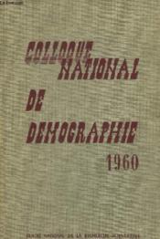 Colloque National De Demographie - Couverture - Format classique