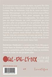 Oeil-de-lynx - 4ème de couverture - Format classique
