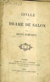 Idylle Et Drame De Salon. - Couverture - Format classique