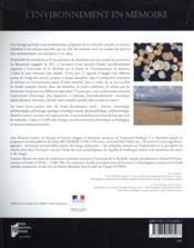 L'environnement en mémoire ; marqueurs, outils et perspectives - 4ème de couverture - Format classique