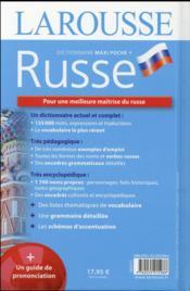 Maxi poche plus dictionnaire Larousse ; français-russe (édition 2016) - 4ème de couverture - Format classique