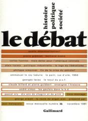 Revue Le Débat N.16 - Couverture - Format classique