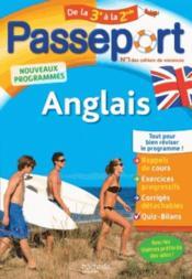 Passeport ; anglais ; de la 3e à la 2de - Couverture - Format classique