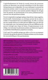 Construction et partage du monde interne - 4ème de couverture - Format classique