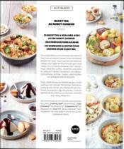 Recettes au robot cuiseur - 4ème de couverture - Format classique