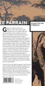 Le parrain ; au coeur d'un clan d'éléphants - 4ème de couverture - Format classique