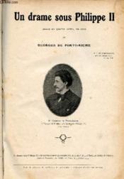 Un drame sous Philippe II - Drame en quatre actes en vers. - Couverture - Format classique