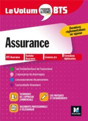 Le volum' ; assurance ; BTS - Couverture - Format classique