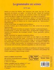 La grammaire en scènes ; 8/11 ans - 4ème de couverture - Format classique