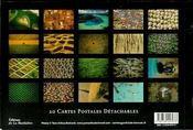 La Terre vue du ciel ; livre cartes postales détachables - 4ème de couverture - Format classique
