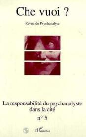 Responsabilite Du Psychanalyste - Couverture - Format classique