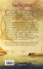 Souffle jaune - 4ème de couverture - Format classique