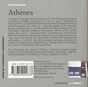 Guide D'Architecture Contemporaine D'Athenes - 4ème de couverture - Format classique