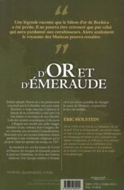 D'or et d'émeraude - 4ème de couverture - Format classique