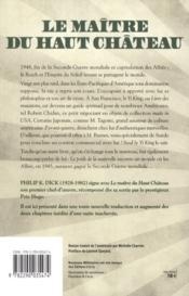 Le maître du haut château - 4ème de couverture - Format classique