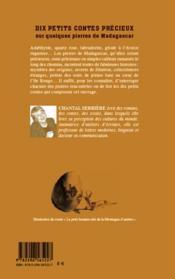 Dix petits contes précieux sur quelques pierres de Madagascar - 4ème de couverture - Format classique