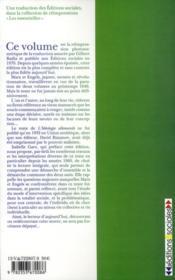 L'idéologie allemande - 4ème de couverture - Format classique
