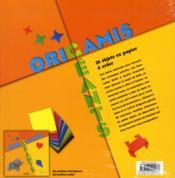 Origamis géants ; 28 objets en papier à créer ; coffret - 4ème de couverture - Format classique