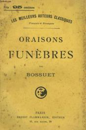 Oraisons Funebres. - Couverture - Format classique