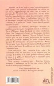 Balkans En Feu A L'Aube Du Xx Siecle - Couverture - Format classique