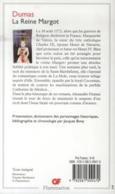 La reine Margot - 4ème de couverture - Format classique