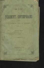 Suite Des Evenements Contemporains Depuis La Guerre Avec La Prusse. Septieme Volume. - Couverture - Format classique