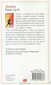Faust t.1 et t.2 - 4ème de couverture - Format classique