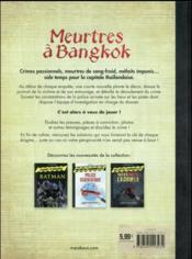 Enquêtes criminelles ; meurtres à Bangkok - 4ème de couverture - Format classique
