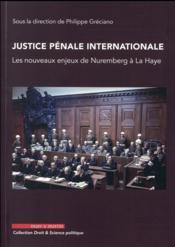 Justice pénale internationale ; les nouveaux enjeux de Nuremberg à La Haye - Couverture - Format classique