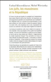 Les juifs, les musulmans et la République - 4ème de couverture - Format classique