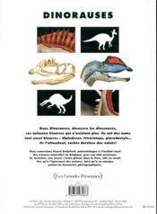 Dinorauses - 4ème de couverture - Format classique