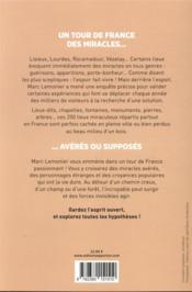 La France des miracles - 4ème de couverture - Format classique