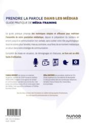 Prendre la parole dans les médias : guide pratique de média-training - 4ème de couverture - Format classique