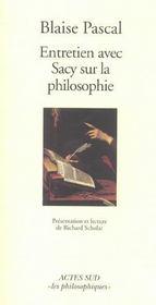 Entretien Avec Sacy Sur La Philosophie - Intérieur - Format classique