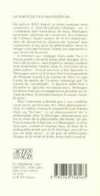 Entretien Avec Sacy Sur La Philosophie - 4ème de couverture - Format classique