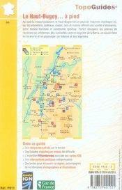 Le haut-bugey à pied ; 01 - pr - p011 - 4ème de couverture - Format classique