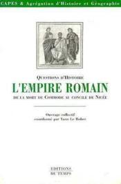 L'Empire Romain Et La Mort De Commode Au Concile De Nicee - Couverture - Format classique