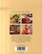 Cuisine du sud - 4ème de couverture - Format classique