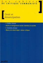 Droit et emancipation - Couverture - Format classique