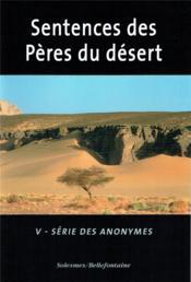 Sentences des pères du désert (s. orientale n 43) - Couverture - Format classique