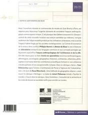 Les Cahiers De La Recherche Architecturale Et Urbaine N.20/21 ; L'Espace Anthropologique - 4ème de couverture - Format classique