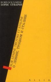 Sur Lenine, Trotski et Staline - Couverture - Format classique