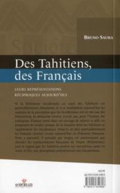 Des Tahitiens, des Français - 4ème de couverture - Format classique