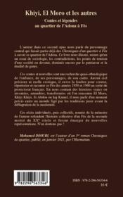Khiyi, el Moro et les autres ; contes et légendes au quartier de l'Adoua à Fès - 4ème de couverture - Format classique