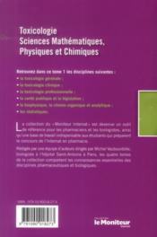Le moniteur internat tome 1 4e ed toxicologiesciences mathematiques physique chi - 4ème de couverture - Format classique